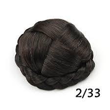 hair bun clip small size for kid synthetic hair bun hair