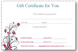 pink flower gift certificate template beautiful printable gift