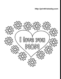 free print valentine coloring pages free mother u0027s day coloring