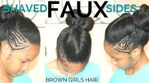 ponytail haircut for me shaved sides faux shaved sides with ponytail brown girls style