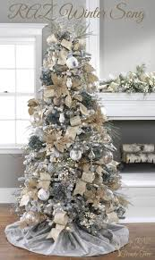 White Christmas Tree Decoration Ideas by Blue And Gold Decor Is Ideal For A White Christmas Tree