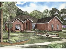 brick home floor plans gilbert brick ranch home plan 055d 0739 house plans and more