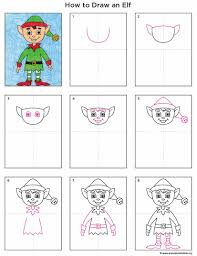 draw an elf art projects for kids