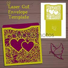 Wedding Invitation Folded Card Lasercut Vector Wedding Invitation Template Wedding Invitation