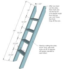bunk bed ladder brackets ladder for the ladder cut two 2x4s 64