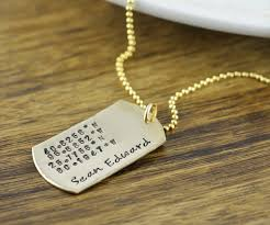 personalized dog tag necklace personalized 14k gold filled dog tag necklace sted dog