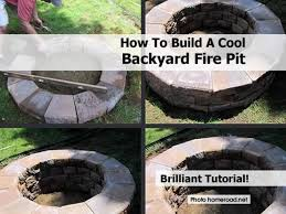 building a firepit in backyard large and beautiful photos photo