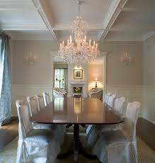 crystal chandeliers dining room traditional with molding outdoor