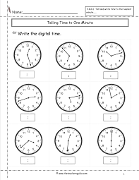 time to the nearest minute worksheet free worksheets library