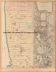 Central Park New York Map by Welcome To Historynyc Historical Maps Poster Books And Custom