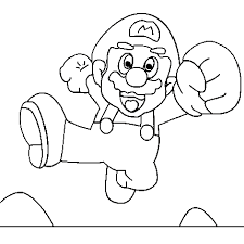 Super Mario Bros Coloring Pages Fantasy Coloring Pages