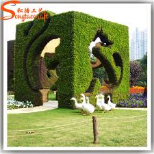 wholesale cheap price abstract landscape trees artificial grass