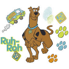 scooby doo prints wall stickers decals