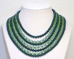 crystal bead necklace jewelry images Seven strand green austrian crystal jade glass bead necklace jpg