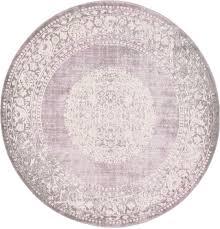 Lilac Area Rug by Purple 6 U0027 X 6 U0027 New Vintage Round Rug Area Rugs Esalerugs