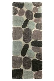Ultra Absorbent Bath Mat Archangel Ultra Soft Embossed Pebbles Bath Mat Grey