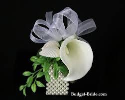 wedding calla lily wrist corsage