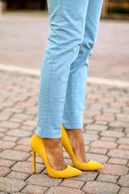 What Color Goes Best With Yellow by Best 25 Yellow Heels Ideas On Pinterest Yellow High Heels