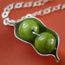 3 Peas In A Pod Jewelry Two Peas In A Pod Necklace For Twins
