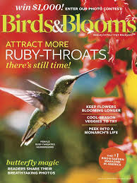Backyard Birding Magazine Birds U0026 Blooms Magazine Aug Sept 2017 Edition Texture