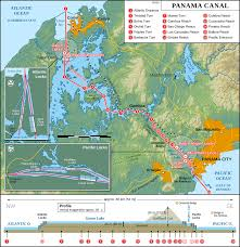Caribbean Ocean Map by Panama Canal Locks Wikipedia