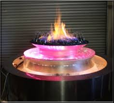 Propane Fire Pits With Glass Rocks by Custom Outdoor Rock Fountain With Fire And Water Feature Custom