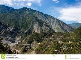 Rugged Mountain Range Himalayas Himalayan Mountain Range Asia Stock Photo Image