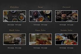 97 best restaurant cafe website templates free u0026 premium