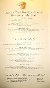 Eurodam Menu Rembrandt Dining Room - Dining room menu