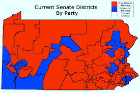Pennsylvania State Map by Our Campaigns United States Pennsylvania Pa State Senate
