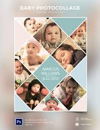 adorable photo collage poster template and cool ideas of