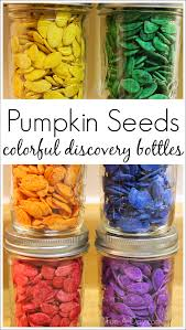 pumpkin seed discovery bottles for fall