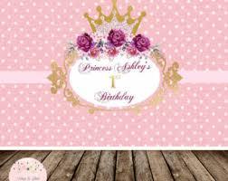 Dessert Table Backdrop by Princess Backdrop Banner Printable Birthday Table Backdrop