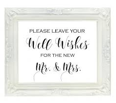 wedding guest book sign well wishes for the new mr mrs sign wedding guest book sign