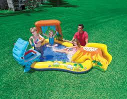 Plastic Swimming Pools At Walmart Intex 7 9 U0027 X 6 25 U0027 Dinosaur Kiddie Swimming Pool U0026 Playcenter