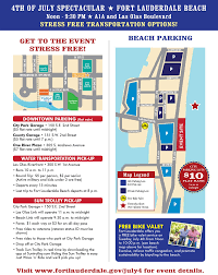 Map Of Ft Lauderdale City Of Fort Lauderdale Fl 4th Of July Spectacular