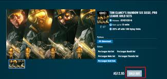 Buy Rainbow Six Siege Gold Why Is The Pro League Gold Set Sold Out It S Digital Content Rainbow6