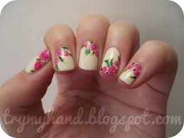 nail art flowers beautify themselves with sweet nails