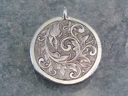engraved pendants jewelry sterling silver engraved scrollwork pendant