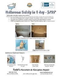 bathroom safety todd u0027s bathtub resurfacing blog