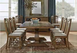 Dining Table Rooms To Go by Asheville Oak 5 Pc Rectangle Dining Room Dining Room Sets Light Wood