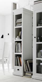 Tall Narrow Bookcase White by Whitehaven Painted Tall Narrow Bookcase With Drawer U2013 Simply Oak