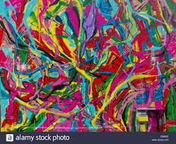 paris france painted wall mural graffiti abstract design paris france painted wall mural graffiti abstract design detail