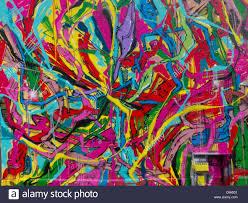 paris france painted wall mural graffiti abstract design
