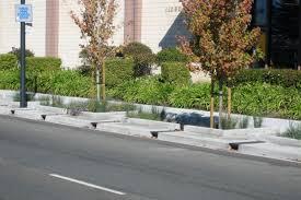 Concrete Planter Boxes by Stormwater Infiltration Sidewalk Planters Native Plants Through A