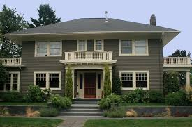 nice grey exterior paint color for modern house can be decor with
