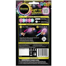 halloween led balloons illooms light up balloons pink turquoise and purple 5 ct