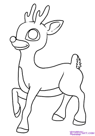 red nosed reindeer drawing
