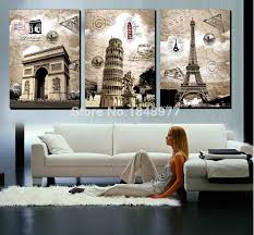 Wholesale Modern Home Decor 3 Panel Modern Home Decor Abstract Wall Art Paintings Famous