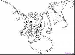 superb evil skull coloring pages with scary coloring pages